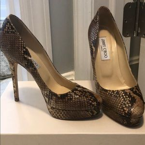 Jimmy Choo Cosmic Pumps - Snake print